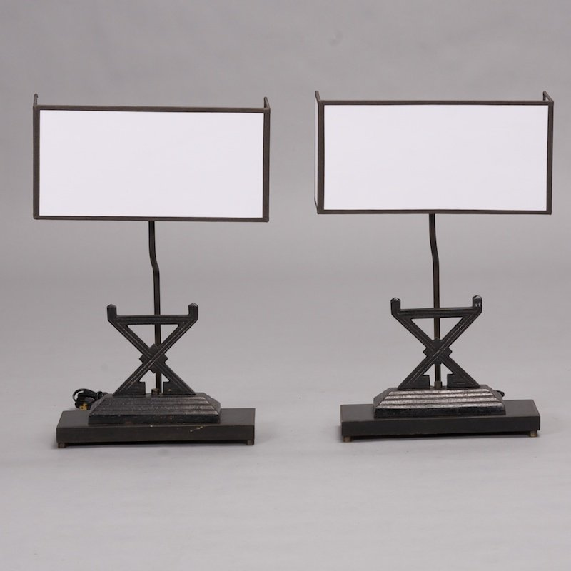 Photo of Pair Firedog Table Lamps
