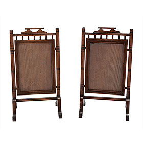 Pair of Wood Aesthetic Standing Frames