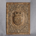 Highly Carved Oak Plaque