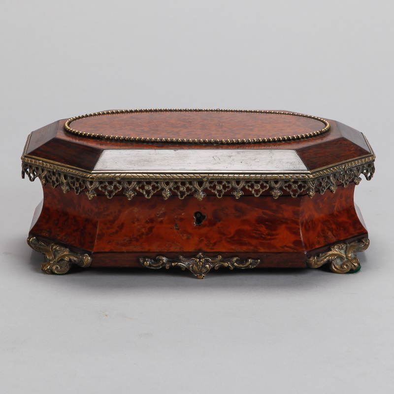 Photo of 19th Century Rosewood Burr Walnut Box With Ormolu Mounts