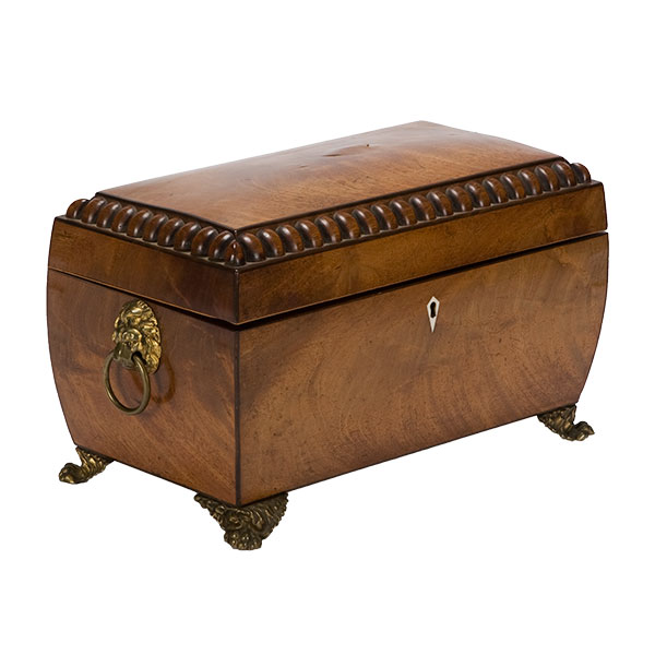 english tea caddy with beaded edge. Black Bedroom Furniture Sets. Home Design Ideas