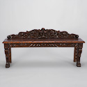 Highly Carved Window Bench