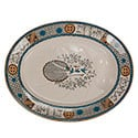 Large Blue and Ivory Aesthetic Platter