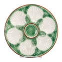 French Green and White Oyster Serving Plate