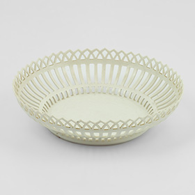 Antique item - Berlin Reticulated Cream Ware Bowl