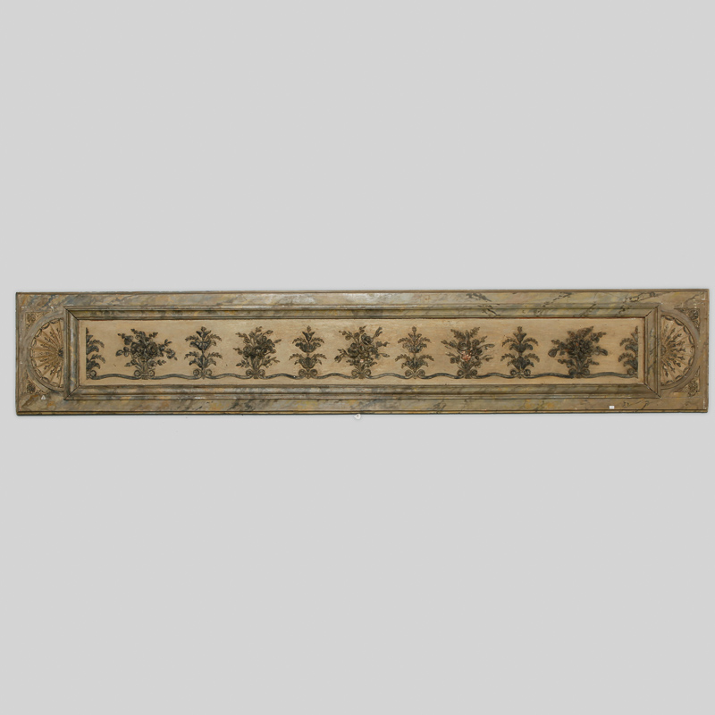 Photo of Long Narrow Italian Carved Wood Architectural Piece