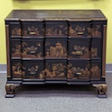 Black and Gold Chinoiserie Cabinet