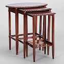 Set of 3 English Mahogany Nesting Tables