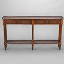 Regency Mahogany & Leather Console