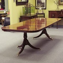 English Mahogany Twin Pedestal Table