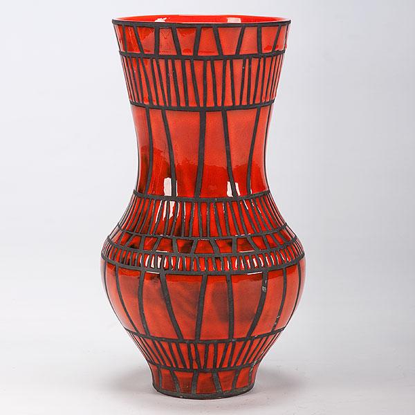 Tall Roger Capron Vallauris Ceramic Vase Gl788