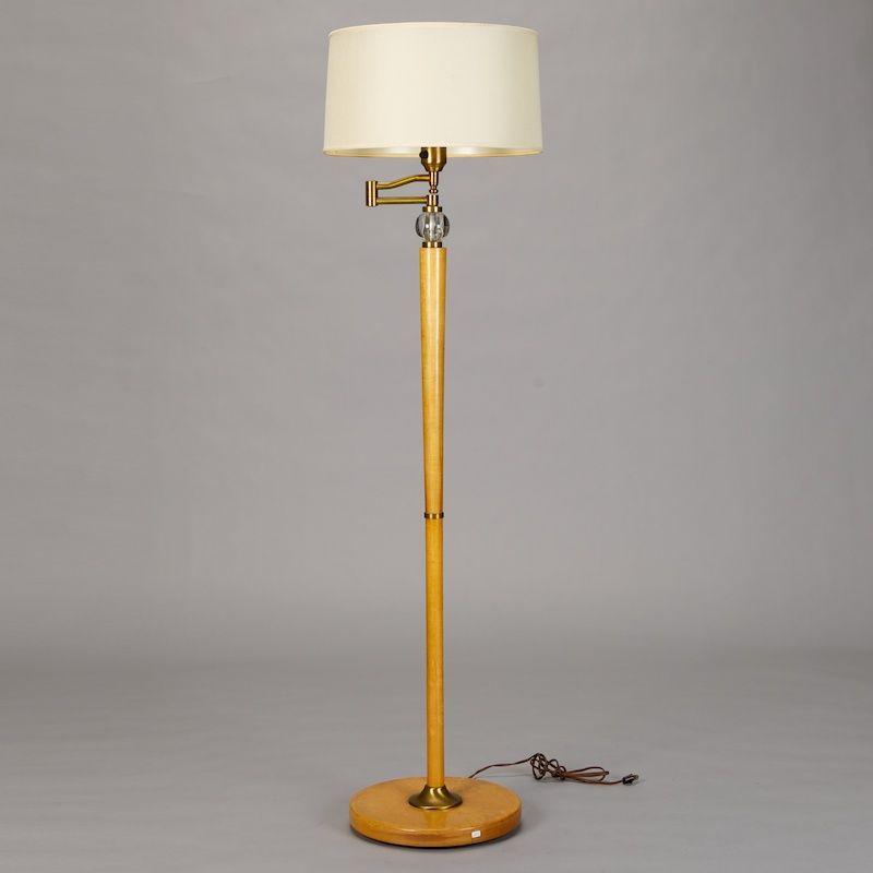 french art deco wooden floor lamp item 1287. Black Bedroom Furniture Sets. Home Design Ideas