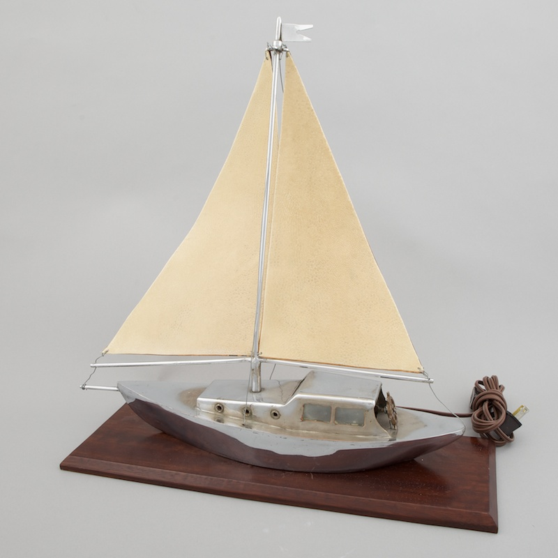 Photo of Art Deco Sail Boat Yacht Lamp