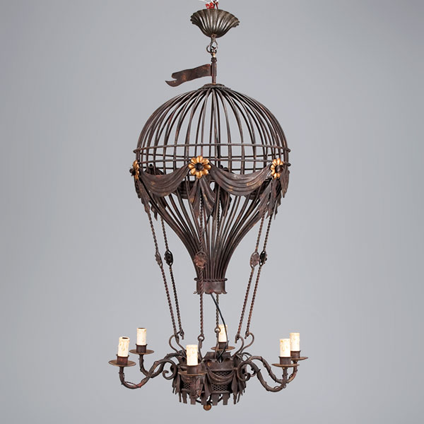 antique black metal balloon light fixture lg1010
