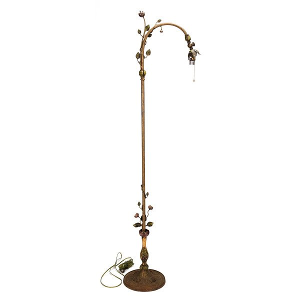 1930s curved arm metal floor lamp lg242b for 1930s floor lamp