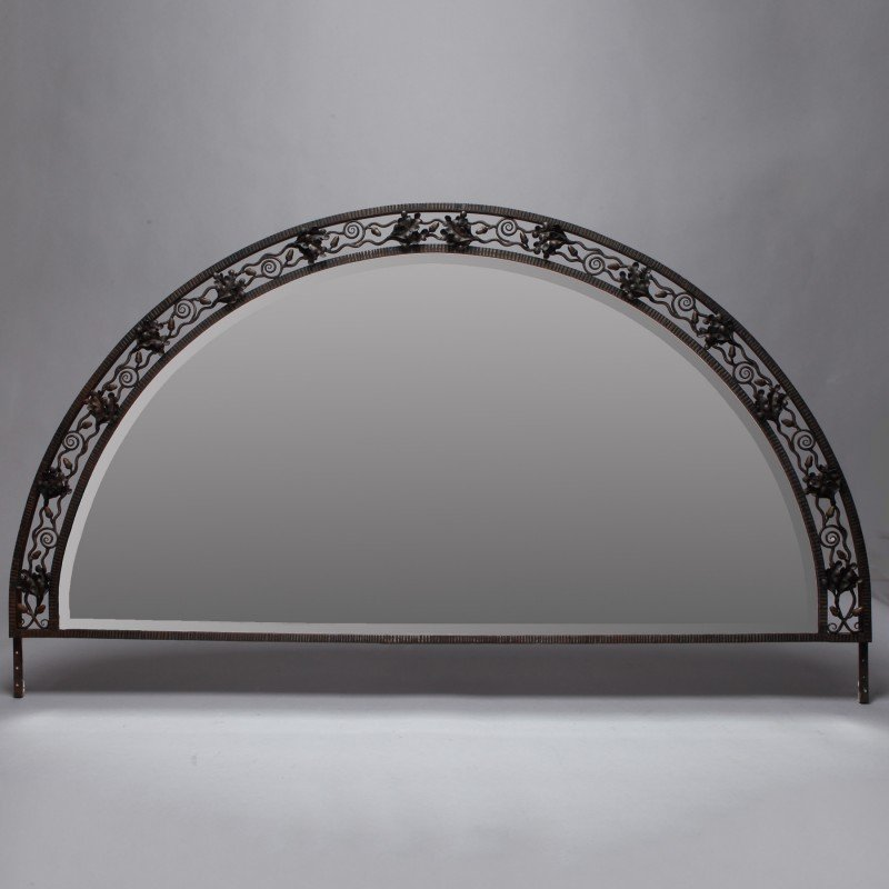 French wrought iron framed mirror item 6061 for Wrought iron mirror