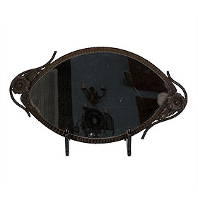 Antique item - Fer Forge Mirrored Tray