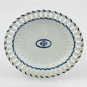 Antique item - 19th Century Cream Ware Plate with Blue