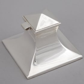 Photo of antique English Silver Plated Inkwell