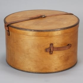 Man S Large Wood Hat Box Item 3803