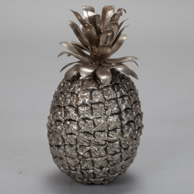 Photo of antique Pineapple Form Brass Ice Bucket