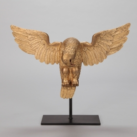 Photo of antique Carved Gilt Wood Eagle On Custom Stand