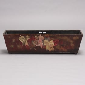 Photo of antique Dark Wood Flower Box with Red Paint