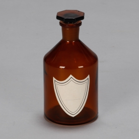 Photo of antique Small Amber Glass Apothocary Bottle