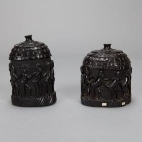 Photo of antique Hand Carved Congolese Lidded Box