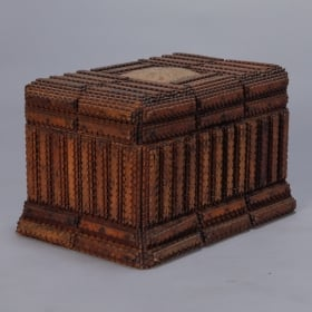 Photo of antique Hand Carved European Tramp Art Box