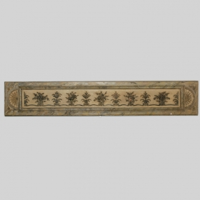 Photo of antique Long Narrow Italian Carved Wood Architectural Piece