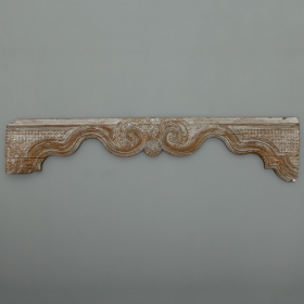 Photo of antique Long Limed Wood French Over Door Panel