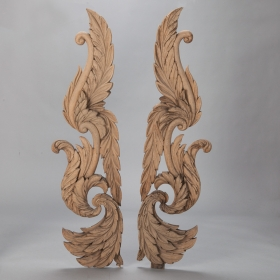 Photo of antique Pair Large Carved Architectural Pieces