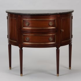 Photo of antique French Bowed Front Louis XVI Style Commode