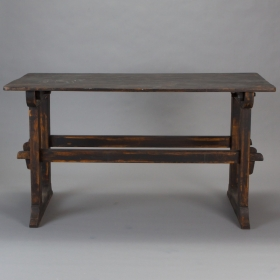 Photo of antique Swedish Black Painted Table