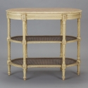 French Etagere with Caning and Pink Marble Top