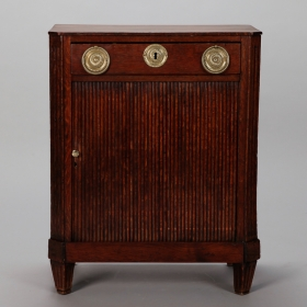 Photo of antique Small Louis XVI Style Cabinet With Tambour Doors