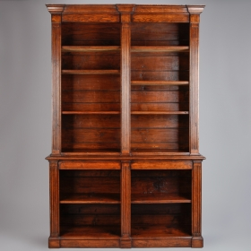 Photo of antique 19th Century English Oak Bookcase