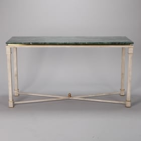 Photo of antique White Painted Directoire Style Console With Green Marble Top