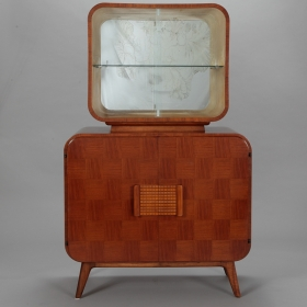 Photo of antique Jindrich Halabala for UP Zavody TV Cabinet