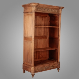Photo of antique French Bleached Oak Bookcase With Carved Detailing