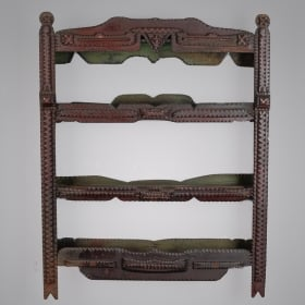 Photo of antique Tramp Art Wall Shelf
