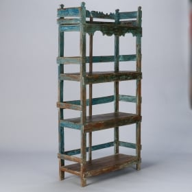 Photo of antique Blue Green Painted Chinese Etagere
