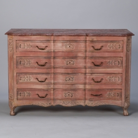 Photo of antique Louis XVI Style Painted Serpentine Chest