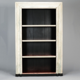 Photo of antique 19th Century Door Frame Bookcase with Copper Lined Shelves