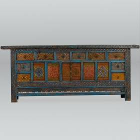 Photo of antique Large Chinese Xinjiang Elaborately Painted Cabinet