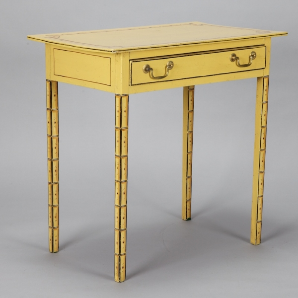 French yellow painted side table item 0 for Yellow painted table