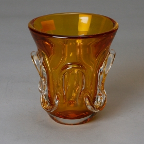 Photo of antique Amber Art Glass Vase
