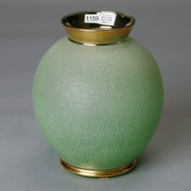 Photo of antique Green Deco Art Glass Vase