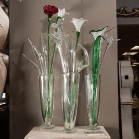 Photo of antique Tall Hand Blown Murano Glass Leaf